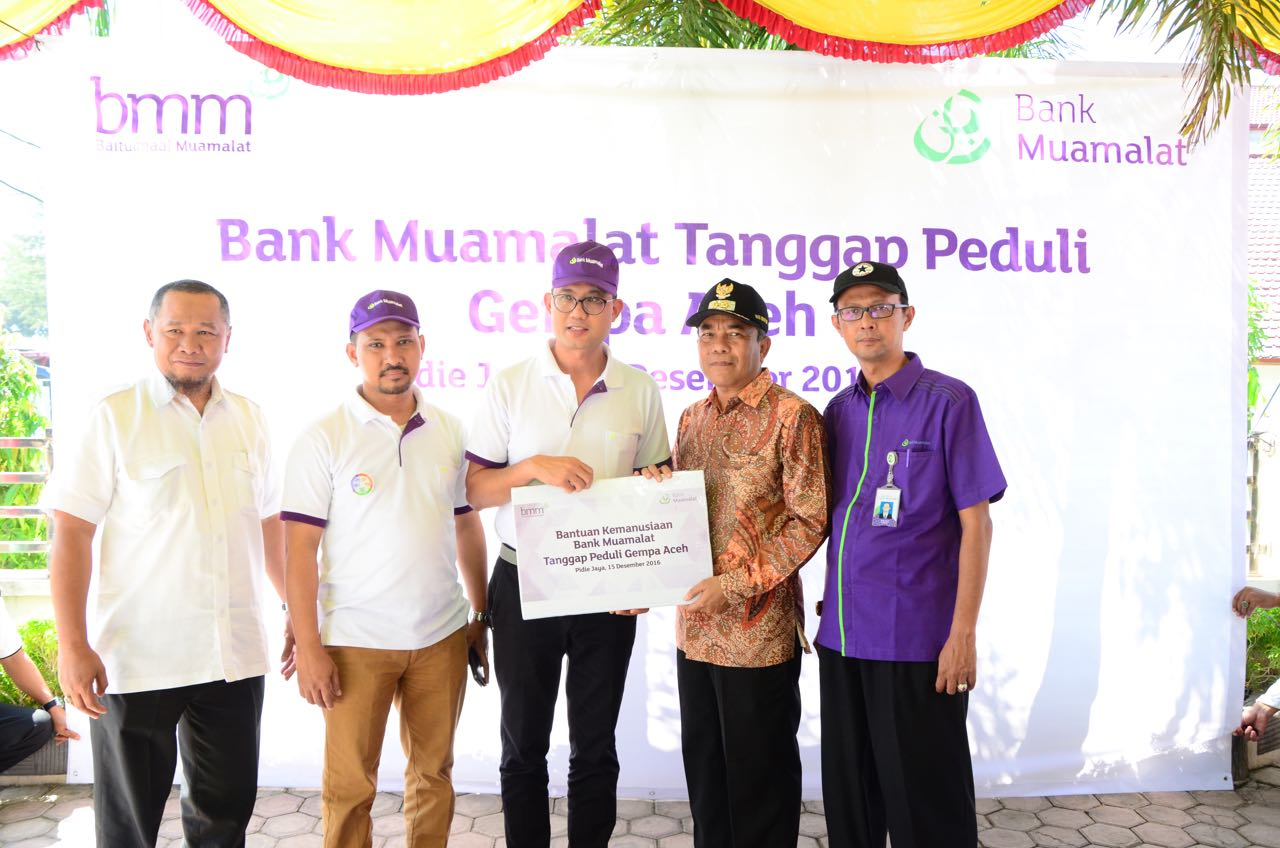 Muamalat Salurkan Bantuan Rp400 Juta untuk Korban Gempa Aceh
