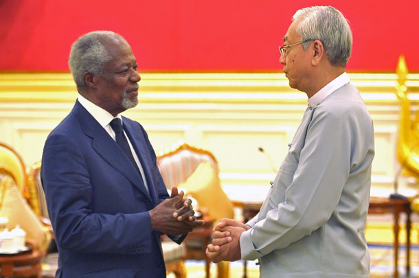 Tim Kofi Annan Temui Presiden dan DPR Myanmar Bahas Rohingya