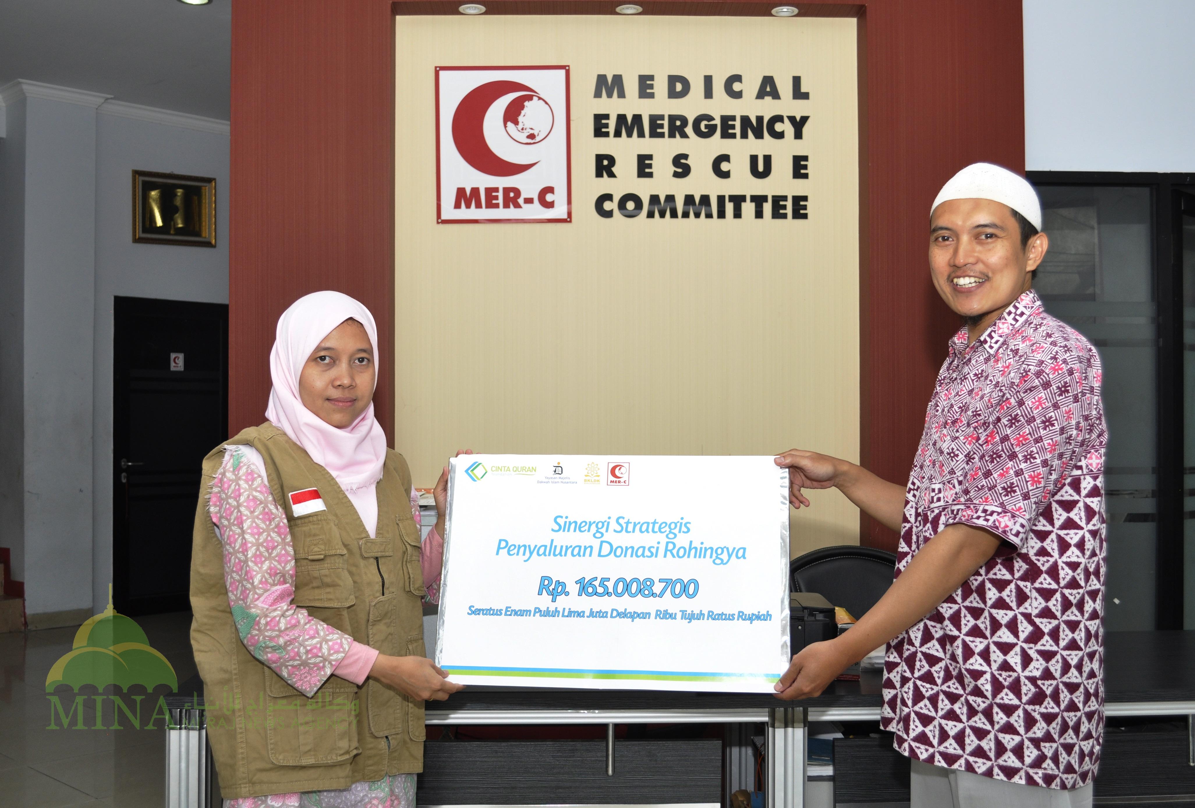 Cinta Quran Foundation Sumbang 165 Juta Untuk Rohingya Melalui MER-C