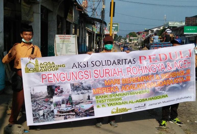 Santri Al-Fatah Singkawang Gelar Aksi Solidaritas Peduli Suriah, Rohingya, Aceh
