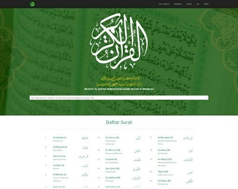 Font Mushaf Al-Quran Standar Indonesia Tersedia di Quran Kemenag Versi Web