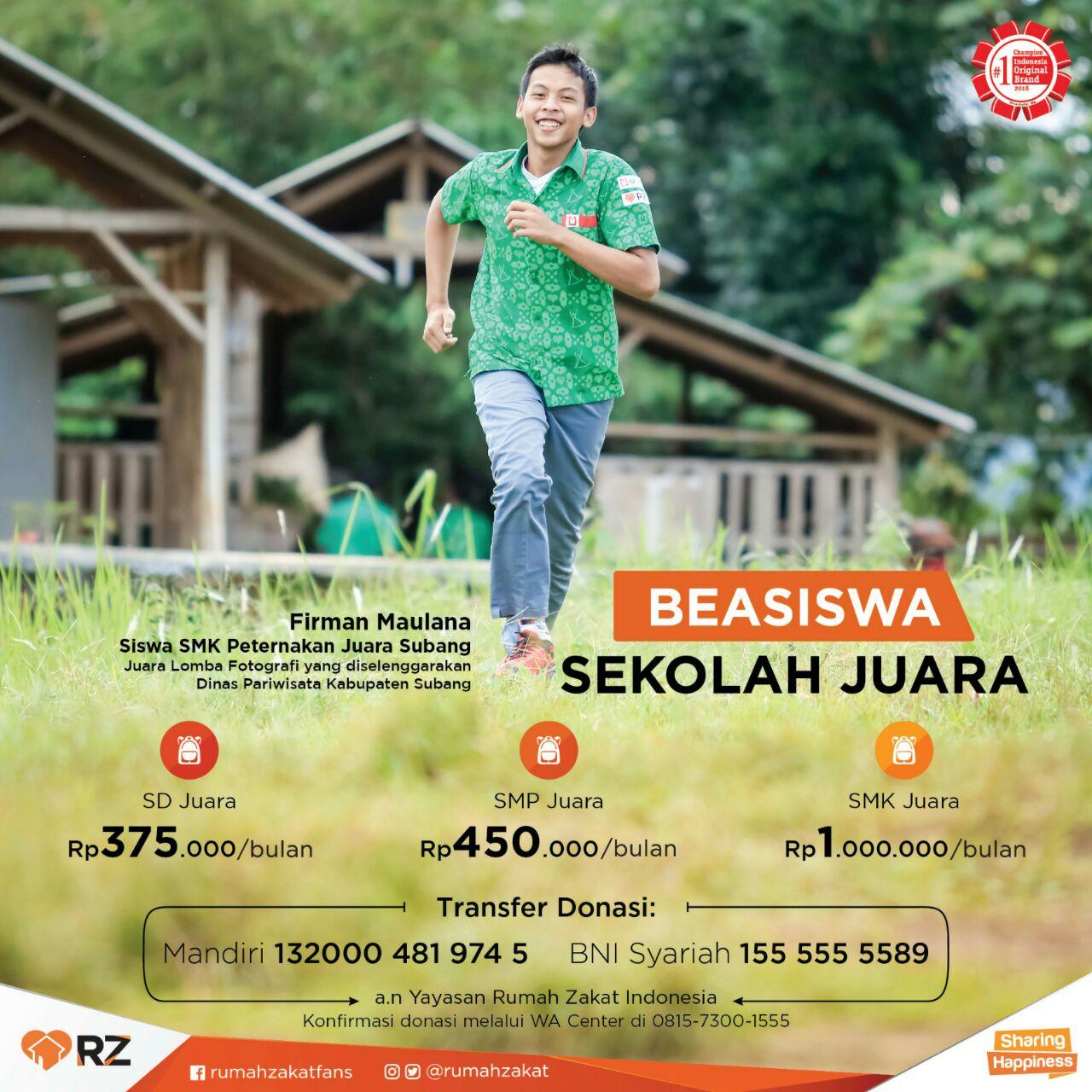 Beasiswa Juara Antarkan Siswa SMK Subang Juarai Lomba Fotografi