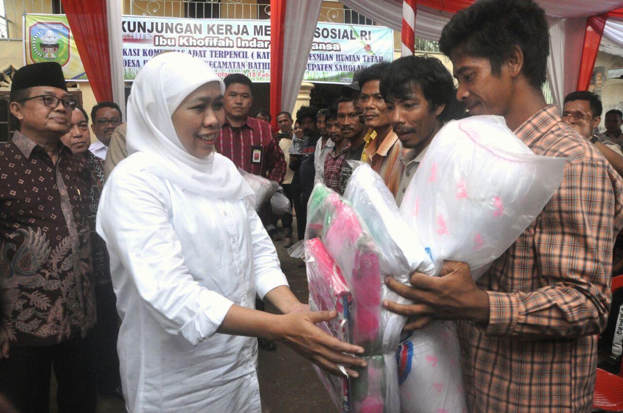 Bantuan 23 Hunian Untuk Warga Suku Anak Dalam Jambi