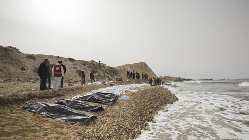 Sebanyak 74 Mayat Pengungsi Terdampar di Pantai Zawiya