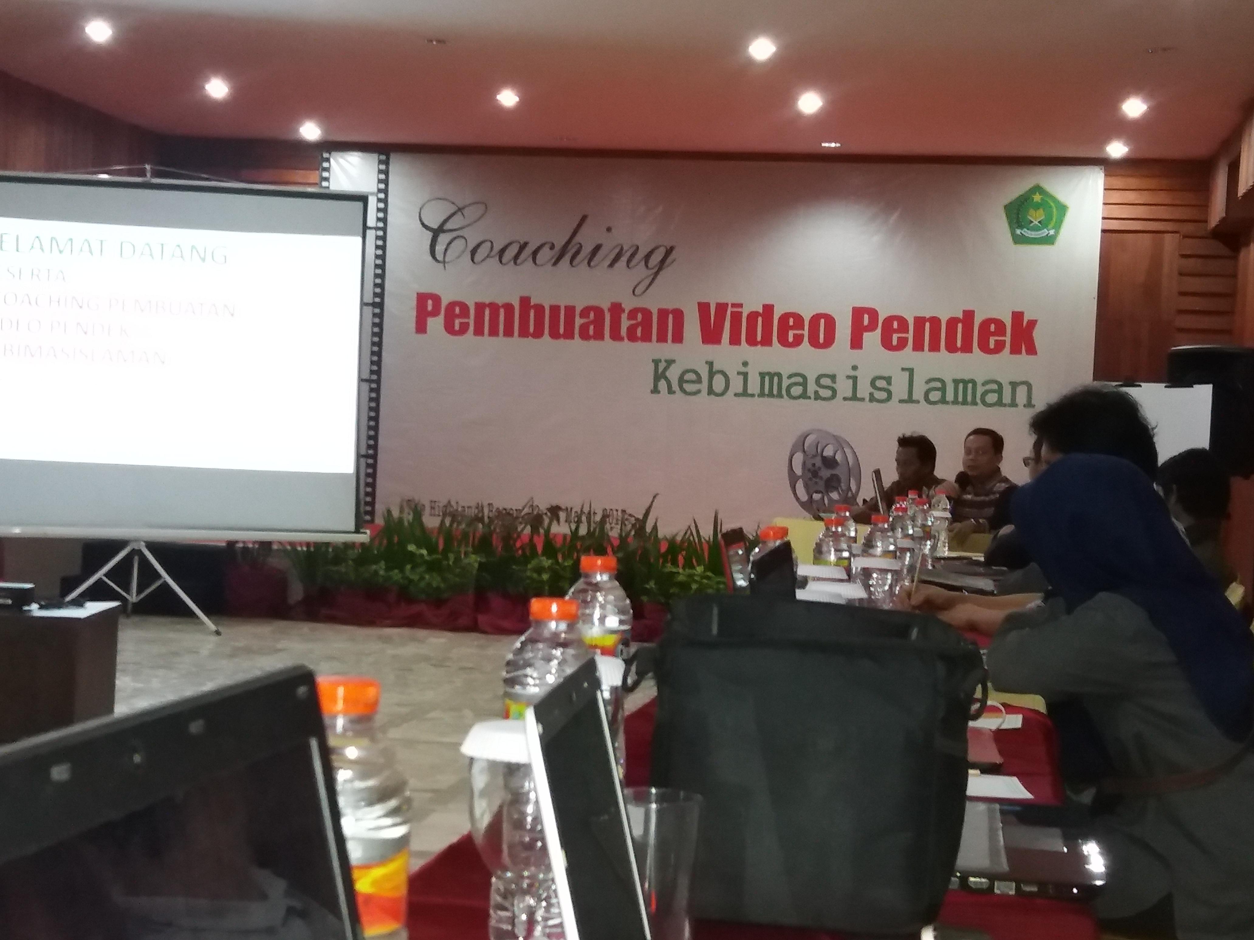 Kemenag Gelar Pelatihan Pembuatan Video