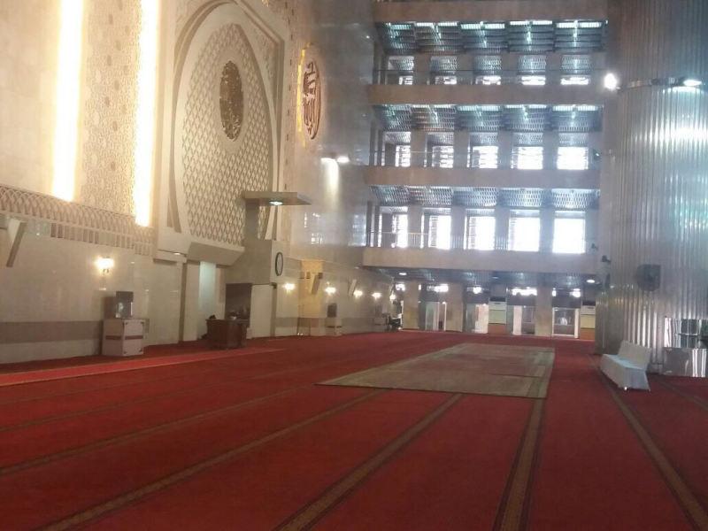 Jelang Kedatangan Raja Salman, Lantai Utama Istiqlal Disterilisasi
