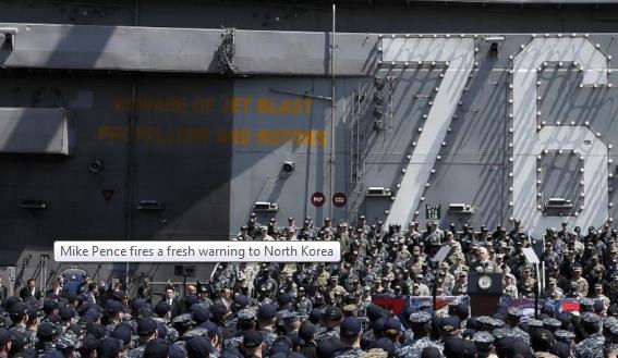 Mike Pence Kembali Peringatkan Korea Utara