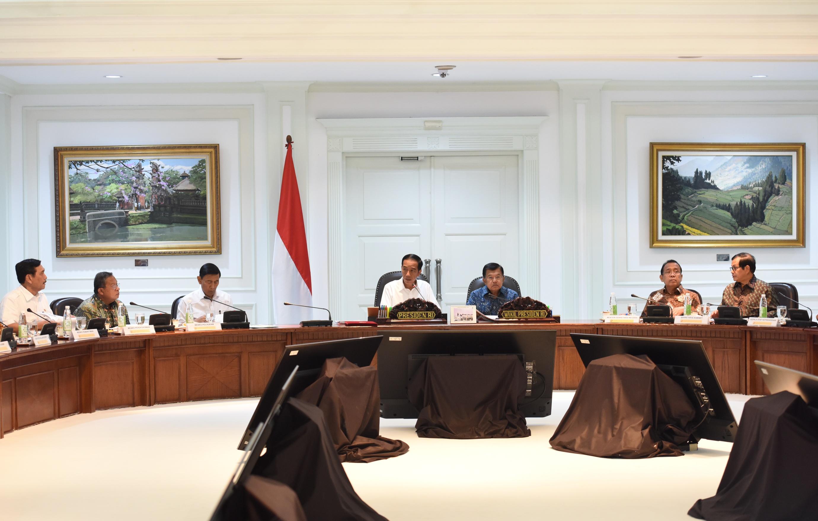 Presiden Jokowi Adakan Ratas Jelang Ramadhan