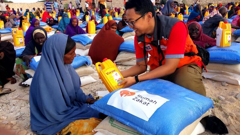 RZ Distribusikan Bantuan Pangan dan Air Bersih Untuk Somalia