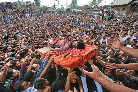 Protes Pembunuhan Warga Sipil, Kashmir Lumpuh