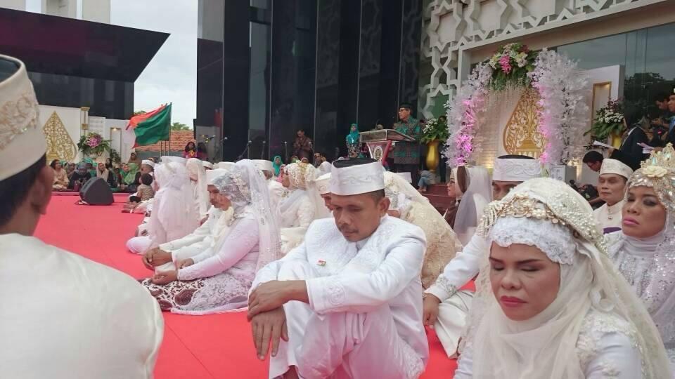 Sebanyak 17 Pasang Difabel Tasyakuran Nikah Bareng di Yogyakarta