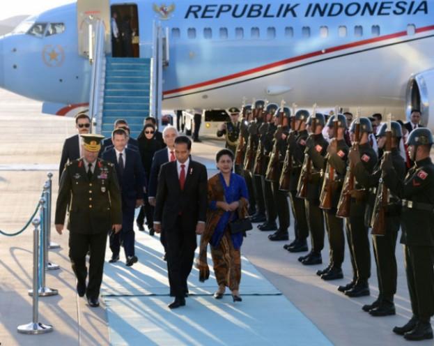 Presiden Joko Widodo Tiba di Turki
