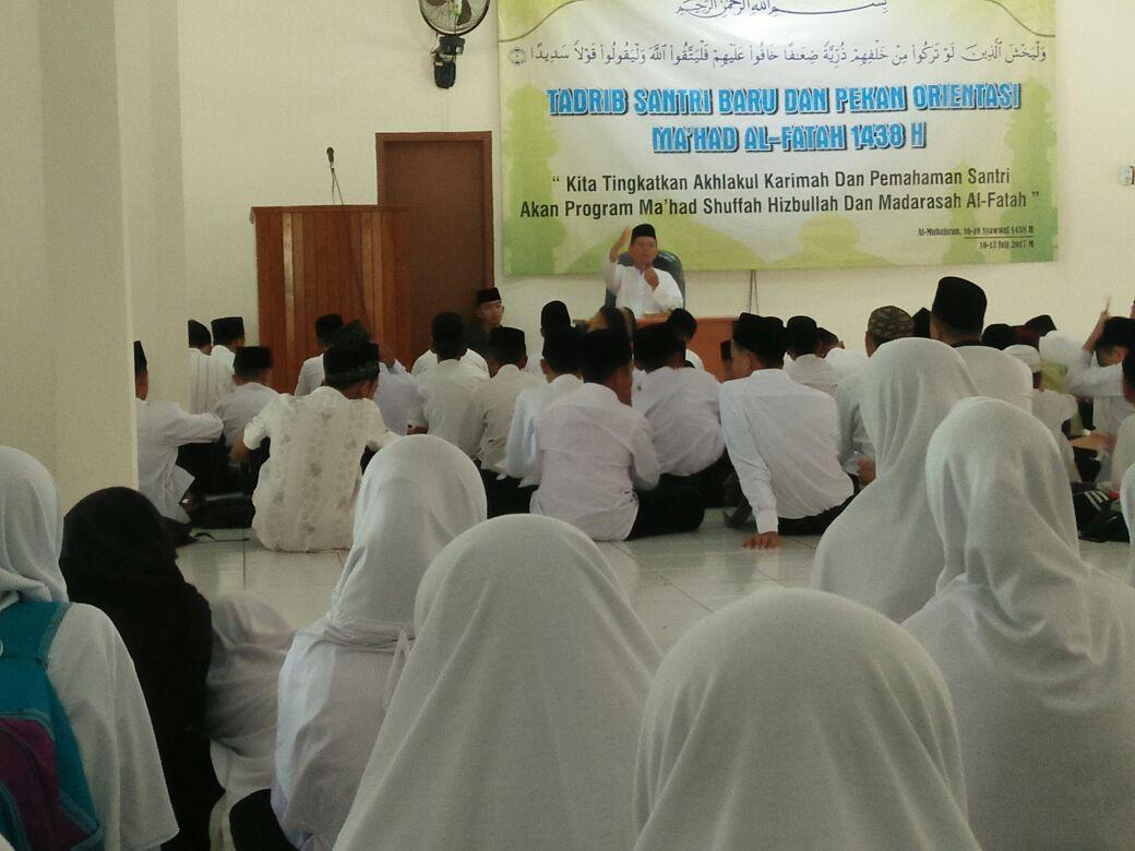 Apel Santri Baru Al-Fatah, Imaam Yakhsyallah: Lima Kunci Sukses Santri