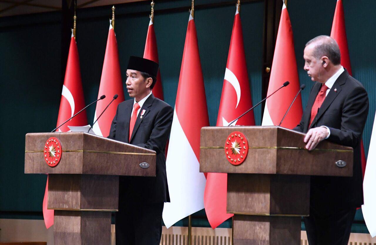 Jokowi dan Erdogan Bahas Isu Qatar