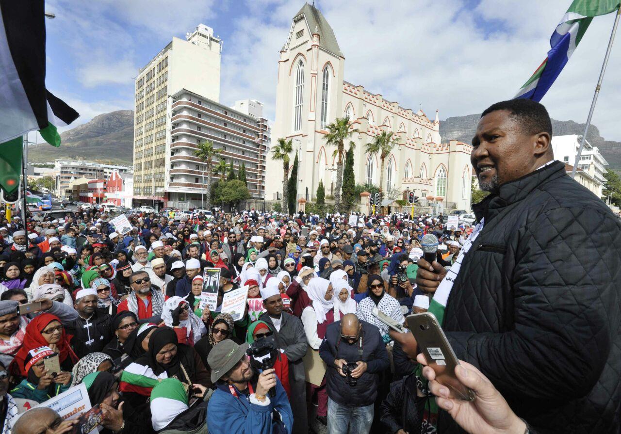 Pidato Cucu Nelson Mandela di Pawai Anti Israel