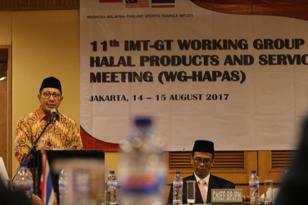 Menag Buka Forum Kerjasama Tiga Negara Tentang Pembangunan Produk Halal