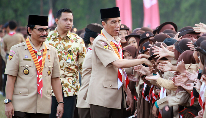Hadiri Peringatan Hari Pramuka, Jokowi Minta Gerakan Pramuka Cintai Tanah Air