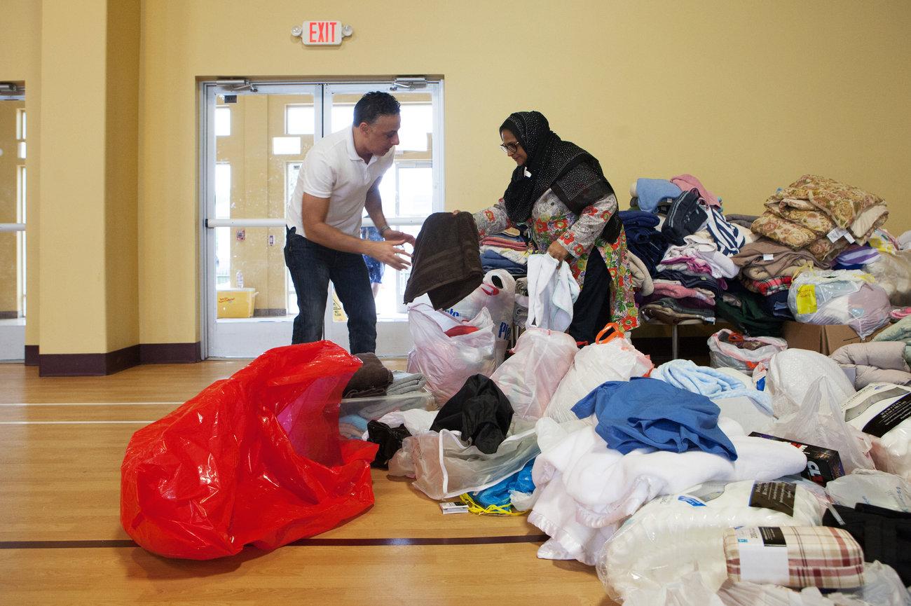 Masjid di Houston Amerika Tampung Pengungsi Badai Harvey