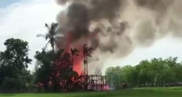 Senin 11 September, Desa-sesa Rohingya Kembali Dibakar