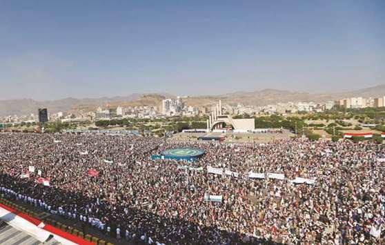 Ribuan Warga Yaman Peringati Tiga Tahun Houthi Berkuasa