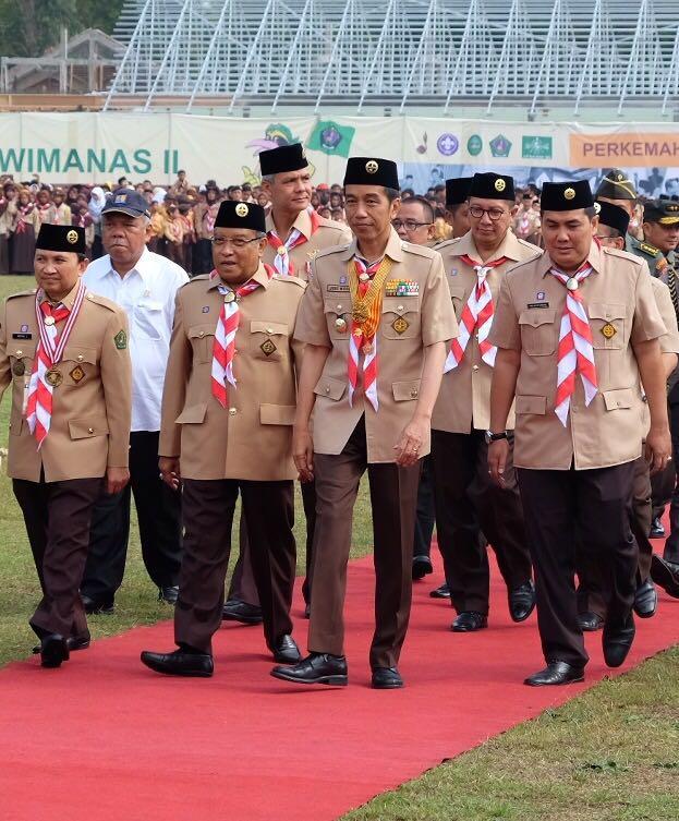 Presiden Jokowi Buka Perkemahan Wirakarya Pramuka Ma'arif NU