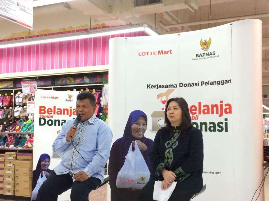 BAZNAS Ajak Masyarakat Donasi Melalui Kasir Lotte Mart