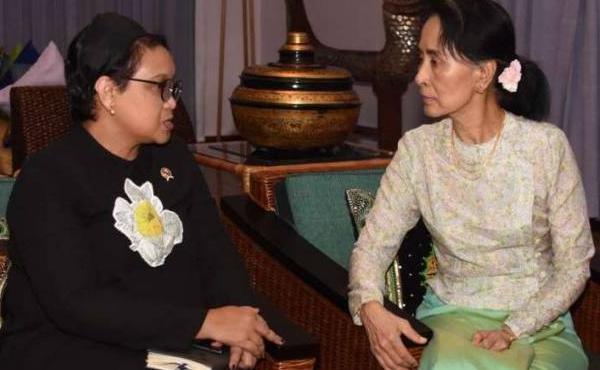 Bertemu Suu Kyi, Menlu Retno Sampaikan Formula 4+1