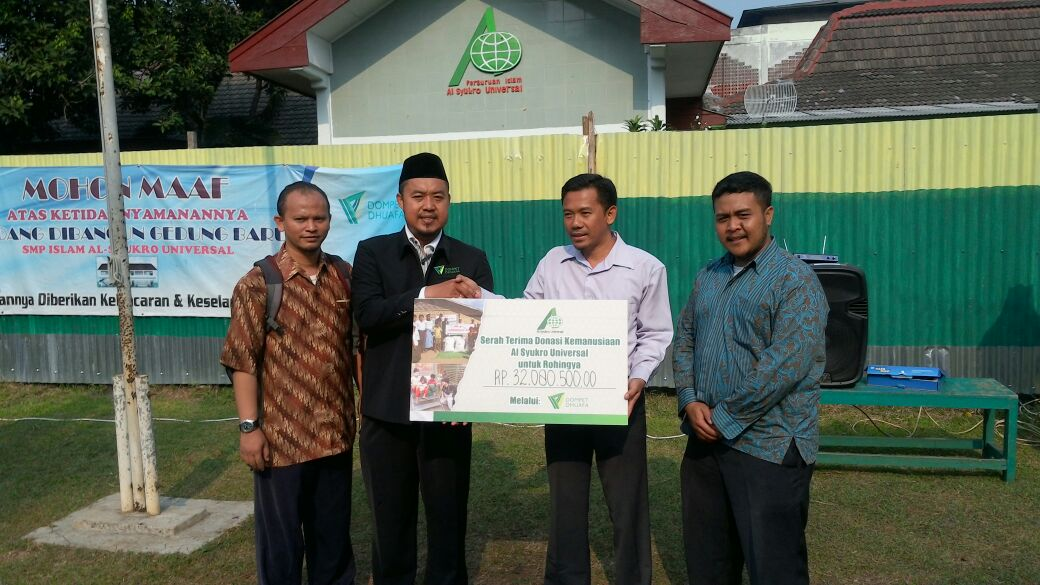Perguruan Islam Al Syukro Universal Galang Dana Muslim Rohingya