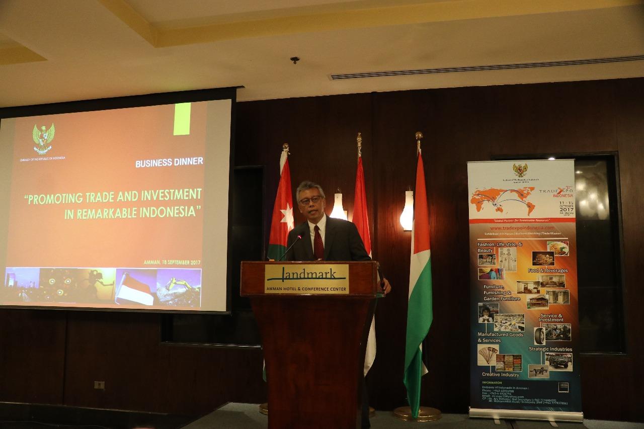 Dubes RI Promosi Bisnis Investasi di Yordania