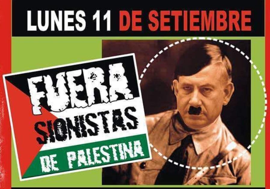 Demo di Amerika Latin Samakan Netanyahu dengan Hitler