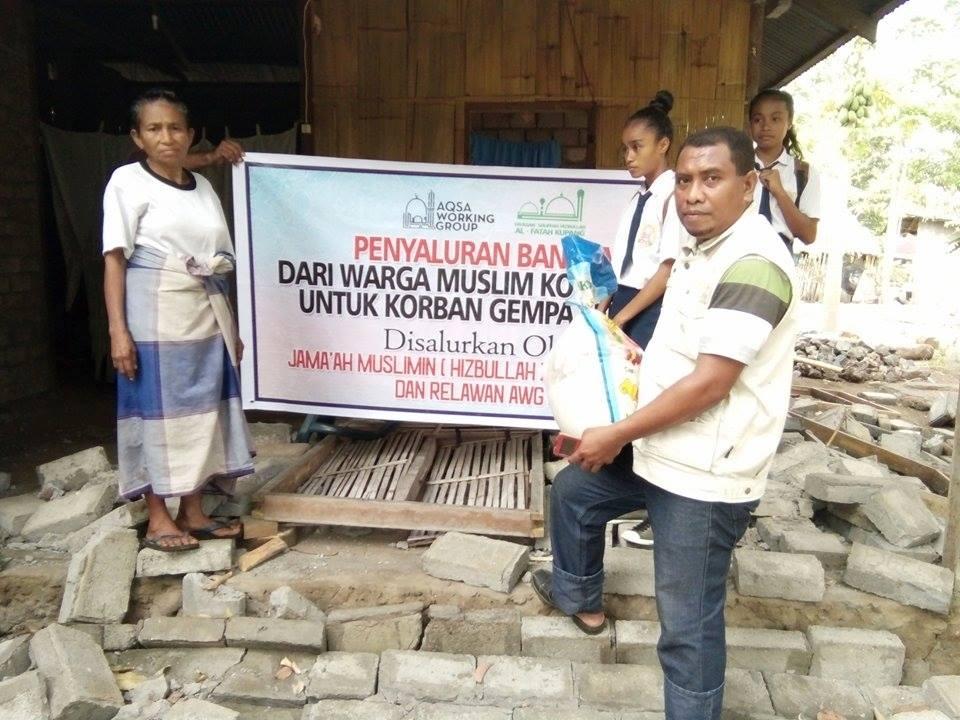 AWG Salurkan Bantuan untuk Korban Gempa Lembata NTT