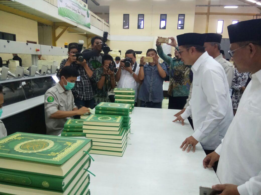 Menag Launching 120 Ribu Mushaf Standar Indonesia