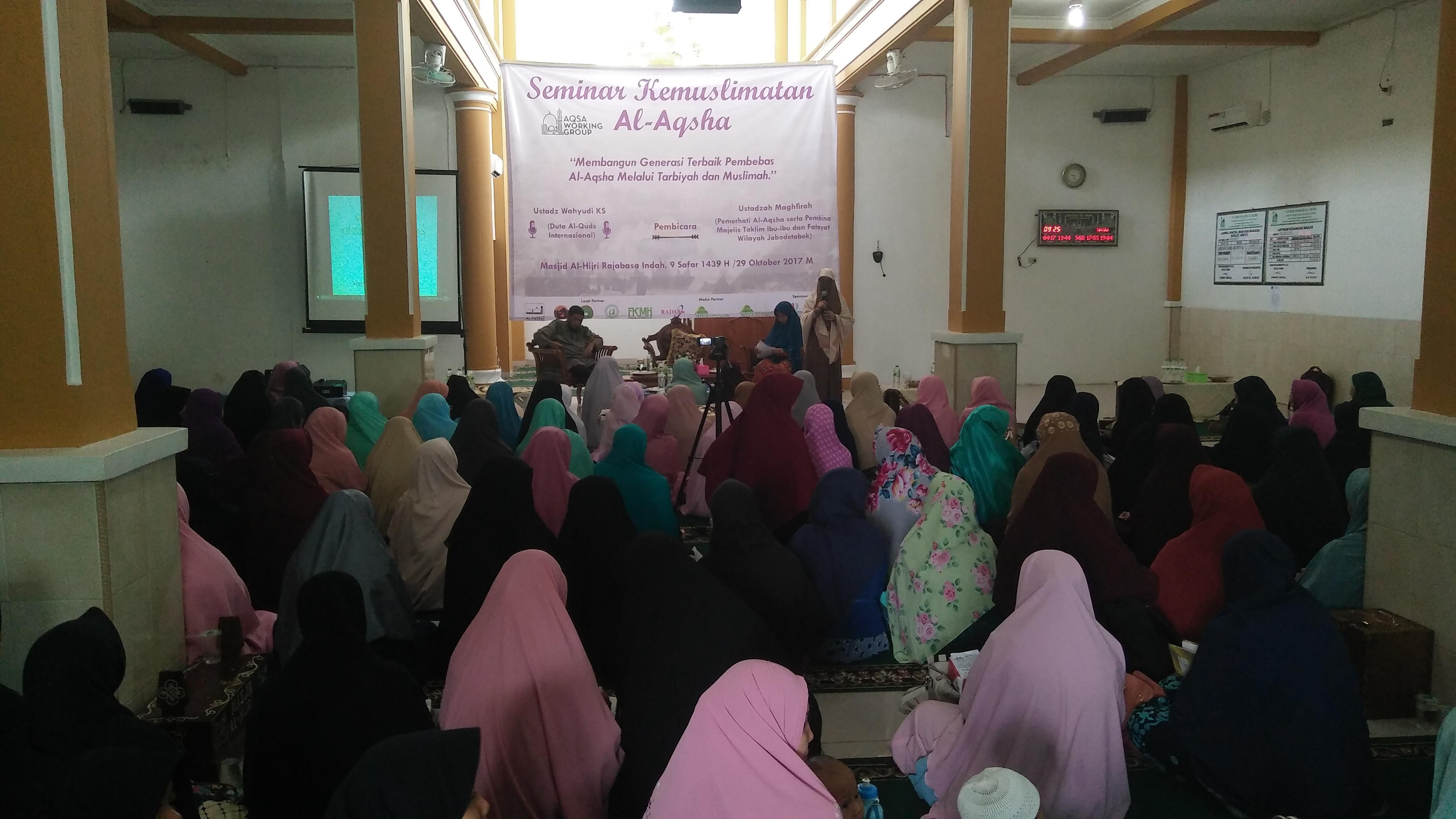 AWG Lampung Gelar Seminar Kemuslimahan Al-Aqsha