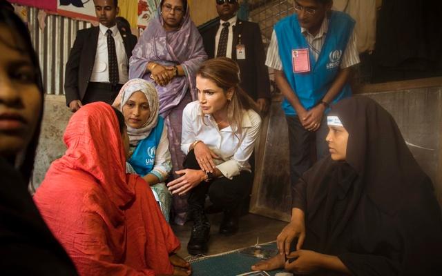 Ratu Rania Seru Dunia Ringankan Derita Muslim Rohingya