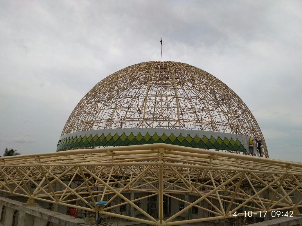Progres Pembangunan Masjid An-Nubuwwah Capai 80%