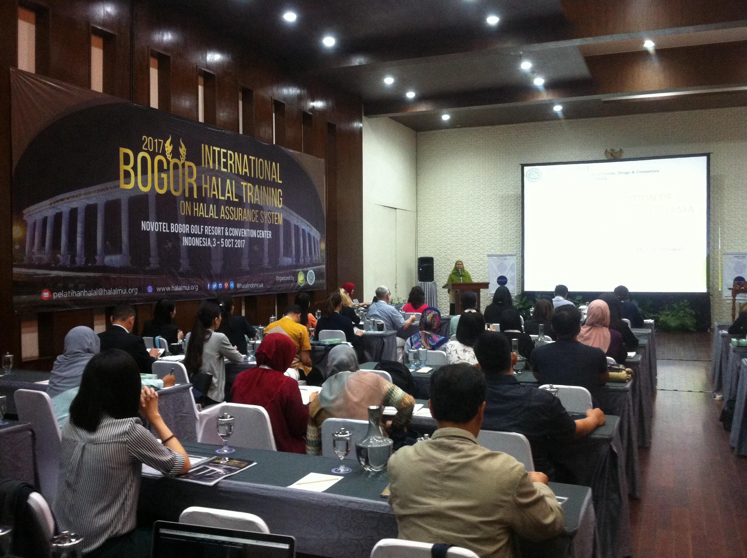 Pelatihan Sistem Jaminan Halal Tingkat Dunia Digelar di Bogor