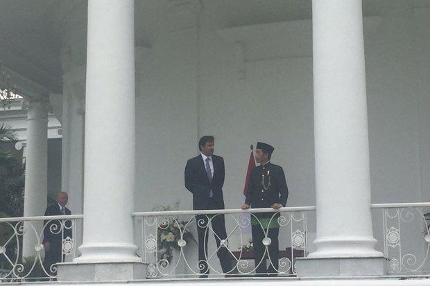 Presiden Jokowi Terima Kunjungan Emir Qatar di Istana Bogor