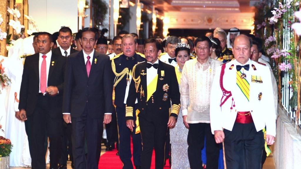 Presiden Jokowi Hadiri Perayaan 50 Tahun Sultan Hassanal Bolkiah Bertakhta
