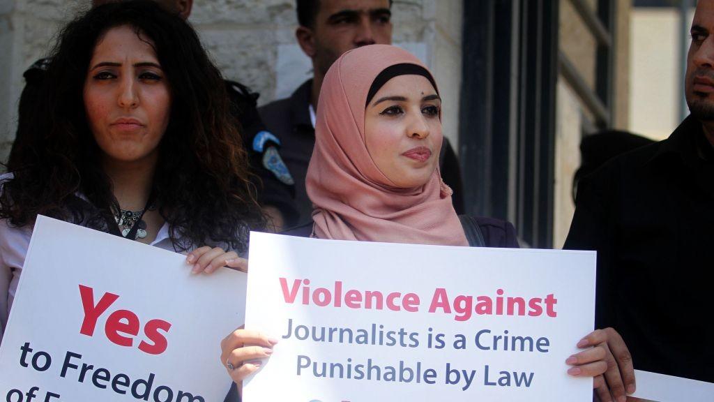 Wartawan Palestina Protes Pembredelan Media