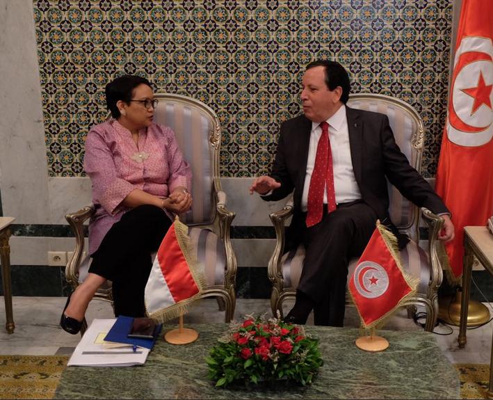 Menlu RI- Menlu Tunisia Bahas Kerja Sama Pemberantasan Terorisme