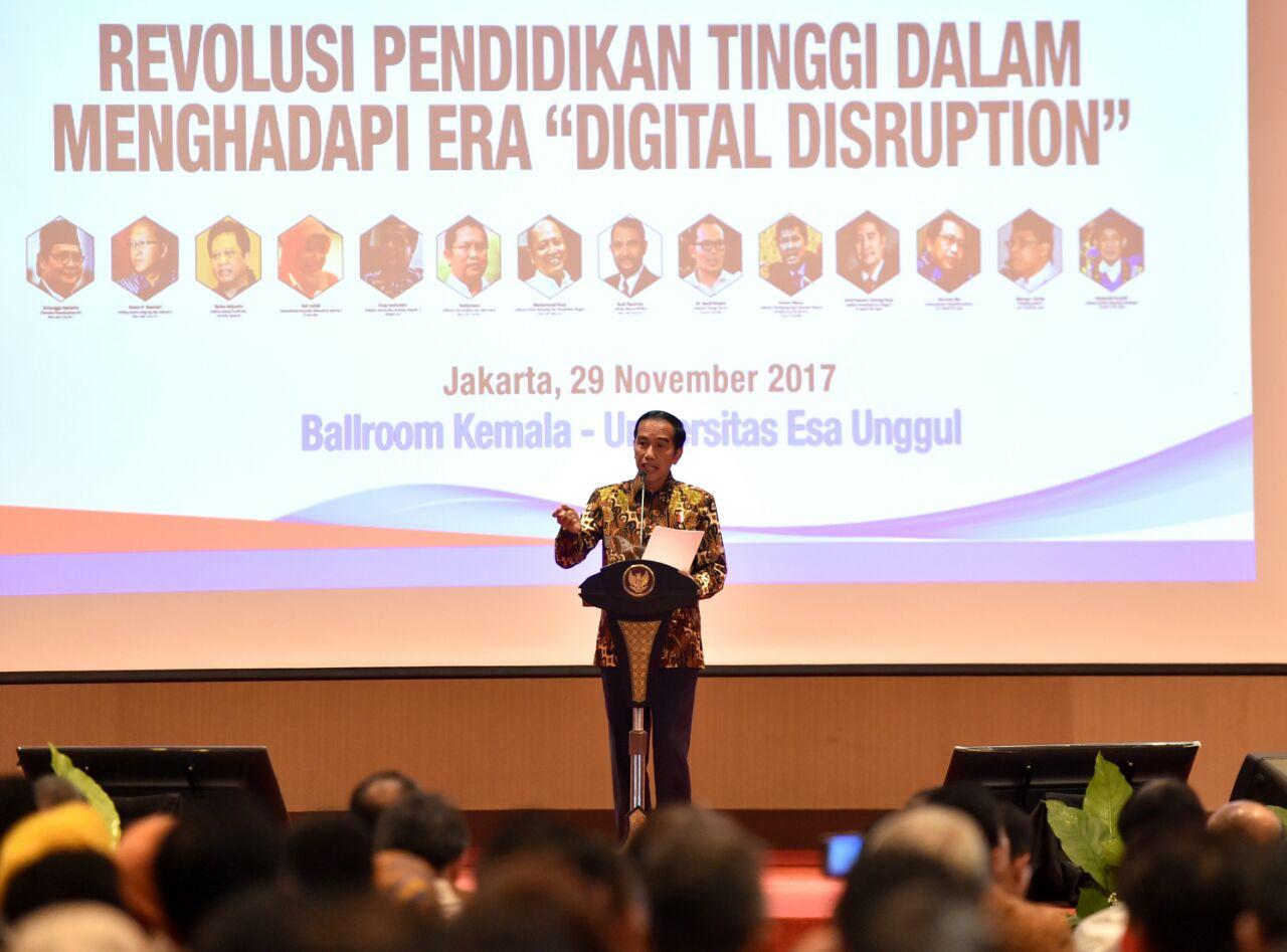 Hadapi Digital Disruption, Presiden Minta PT Dorong Mahasiswa Tumbuhkan Inovasi