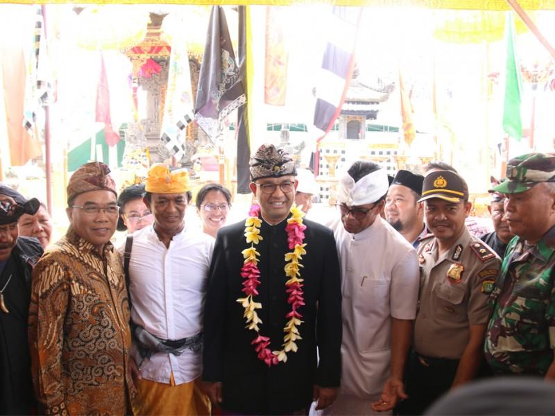 Gubernur Anies Resmikan Pura Dalem Purnajati Tanjung Puri Jakut