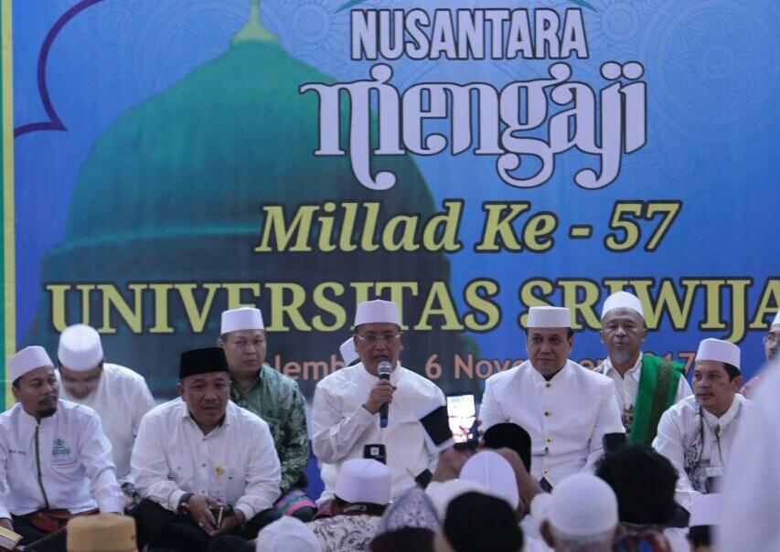 Menristekdikti Hadiri Nusantara Mengaji di Unsri Palembang