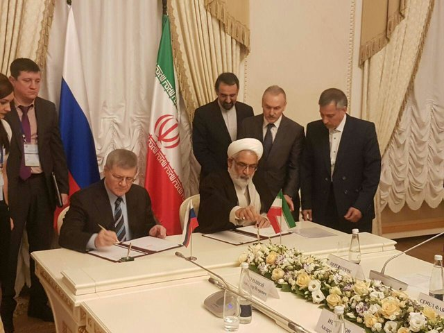 Iran dan Rusia Tandatangani MoU Kerja Sama Yudisial