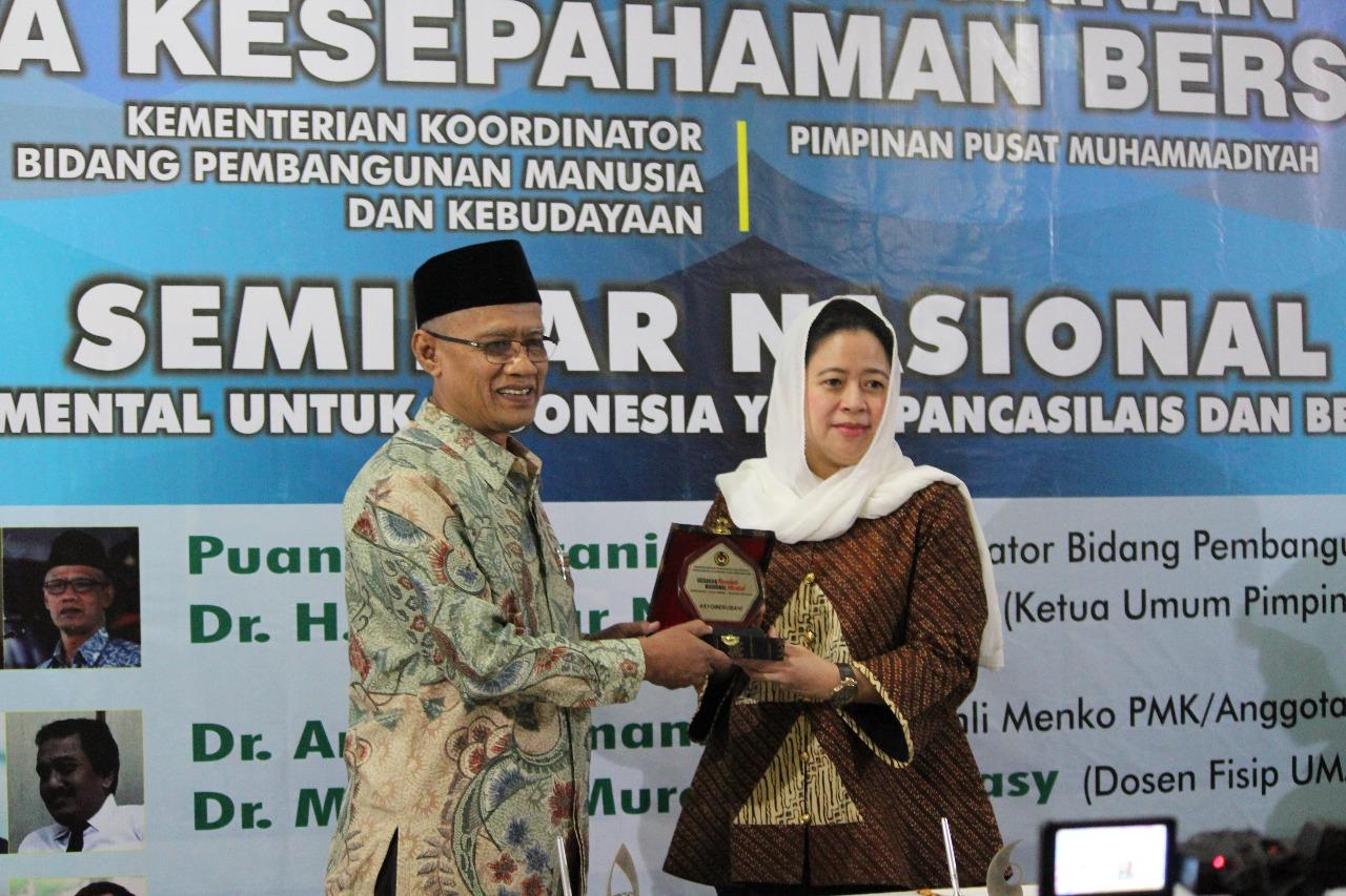 Muhammadiyah-Kemenko PMK Tandatangani MoU