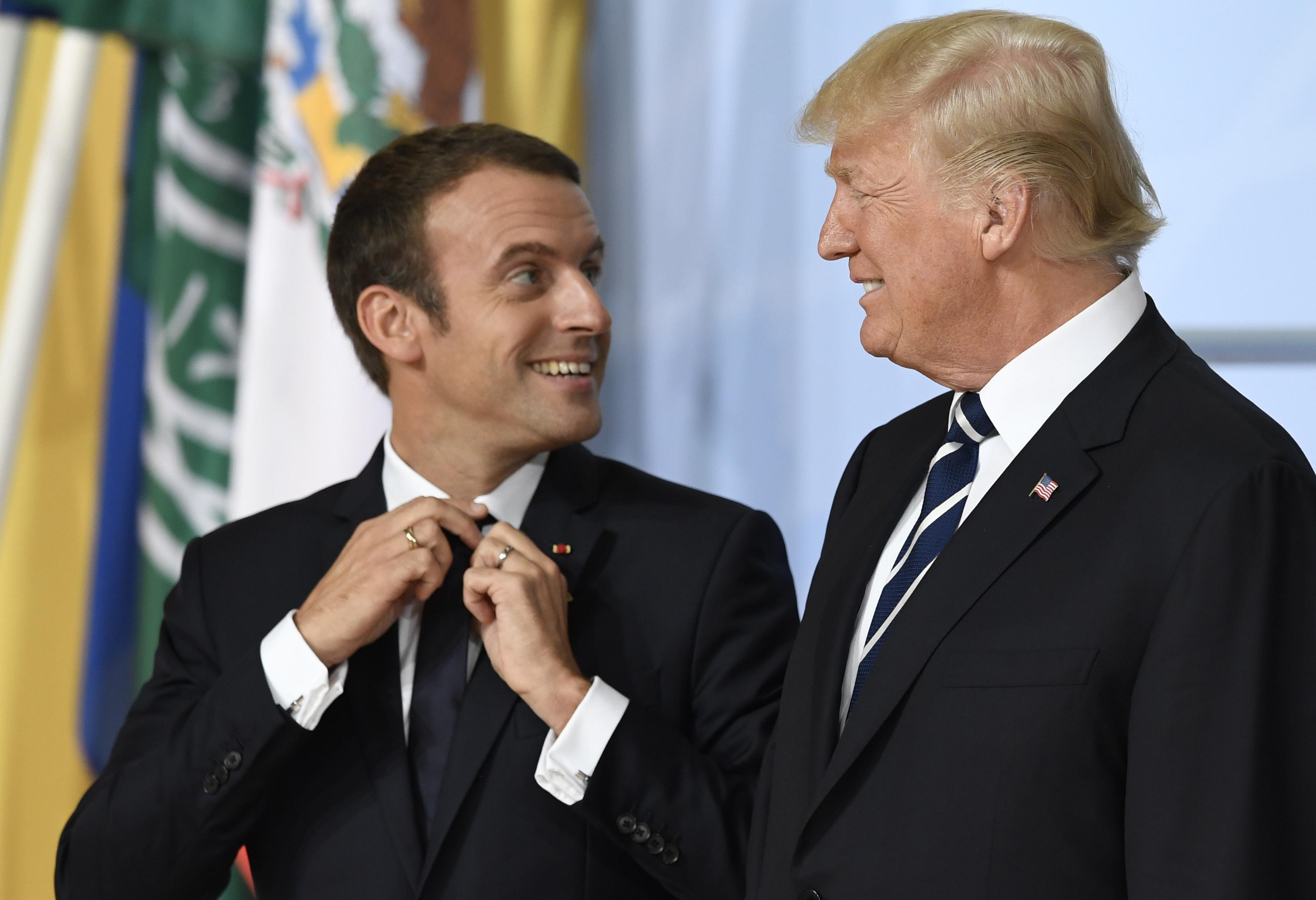 Trump dan Macron Bahas Perlunya Kerjasama Lawan Iran dan Hizbullah Lebanon