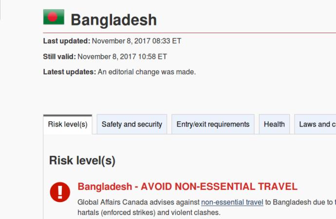 Kanada Ingatkan Warganya Terhadap Serangan Militan di Bangladesh