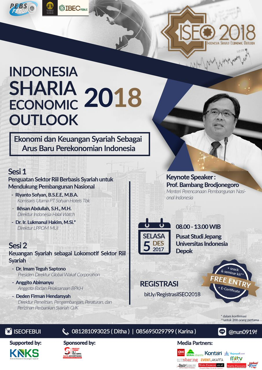 FEB UI Akan Adakan Seminar Indonesia Sharia Economic Outlook 2018