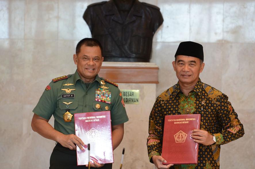 Mendikbud-Panglima TNI Sepakati MoU Perluasan Peningkatan Mutu Pendidikan