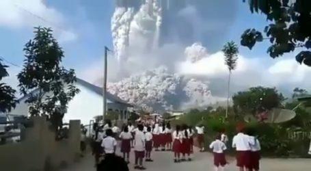 Abu Vulkanik Sinabung Tutupi Lahan Pertanian Di Aceh Tenggara